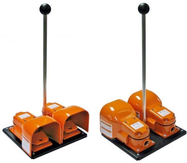 DG500 Dual Foot Switch SSC Controls Dual Pedal (Complete Assembly with Optional Handle)