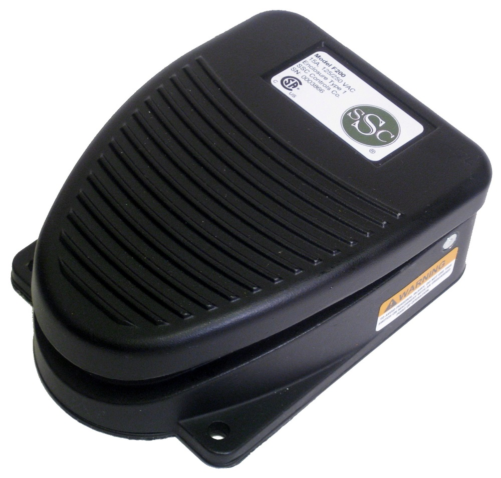 f-series foot pedal from ssc controls