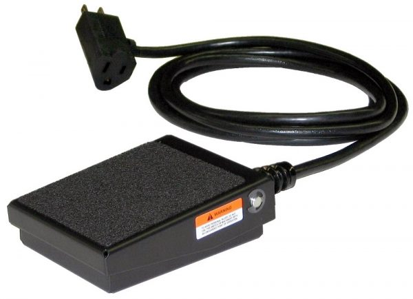 S100-Series Foot Switch (Momentary Action) and Cable with Series (Piggyback) Plug for Wall Outlet
