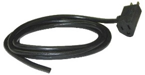 Cable with 3-Pronged Piggyback Plug (for North American Wall Outlets)