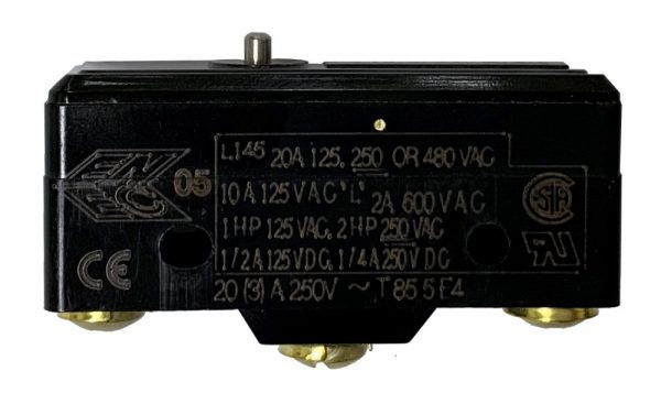 Switch with Pin Plunger (SSC Controls 11416) - 20 Amp 125/250 VAC - Electrical Contact Block – Replaces Honeywell BA-2R62-A4, BA-2R-A2, 534-SS